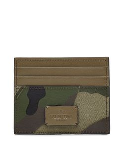Valentino | Camouflage Card Holder With Leather Gr. One Size