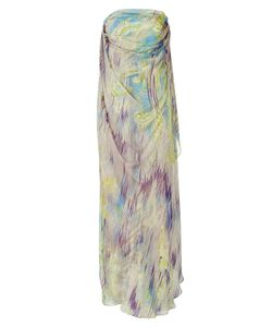 Matthew Williamson | Mauve And Peridot Printed Silk Gown Gr. M