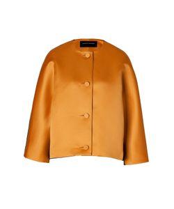 Jonathan Saunders | Satin/Wool Felt Jacket In Golden Brown/Black Gr. M