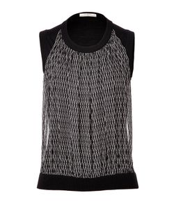 Bouchra Jarrar | Knit Top With Silk Front Panel Gr. Fr 40