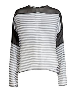 Anthony Vaccarello | Striped Silk Blouse Gr. Fr 36