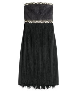 Tamara Mellon | Embellished Bandeau Dress With Fringe Gr. Us 4