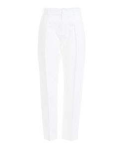 Bouchra Jarrar | Cropped Cotton Pants Gr. Fr 42