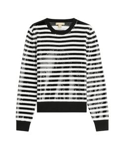 Michael Kors | Striped Wool Pullover With Sequins Gr. S