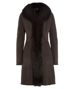 Sly010 | Suede Coat With Raccoon Fur Gr. Fr 36