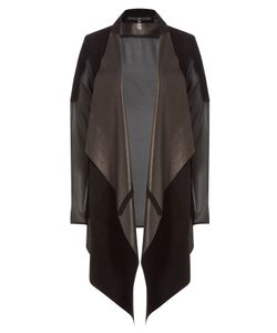 Sly010 | Suede And Leather Jacket With Sheer Back Gr. Fr 44