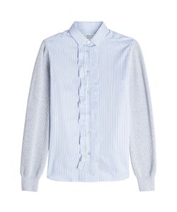 Maison Margiela | Striped Cotton Shirt With Knit Sleeves Gr. It 38