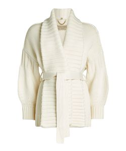 Burberry London   Belted Wool Cardigan With Cashmere Gr. S