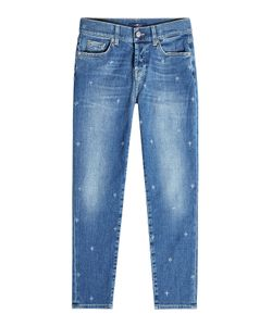 Seven for all Mankind   Distressed Cropped Jeans Gr. 25