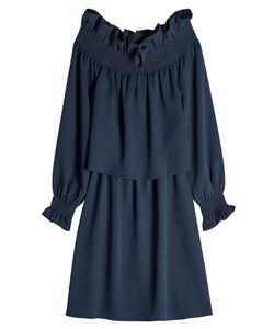 Diane von Furstenberg | Off-The-Shoulder Ruffle Dress Gr. L