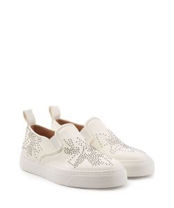 Chloé | Embellished Leather Slip-On Sneakers Gr. It 36