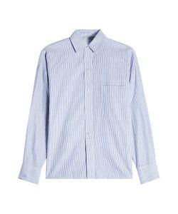 Vince   Striped Linen Shirt With Cotton Gr. L