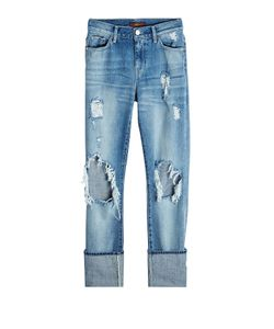 Seven for all Mankind | Distressed Jeans With Cuffed Ankles Gr. 27