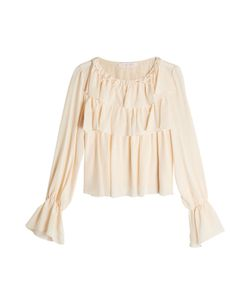 See by Chloé | Silk Blouse With Flutter Details Gr. Fr 36