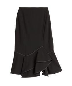 Donna Karan New York | Stretch Crepe Skirt With Ruffled Hem Gr. M