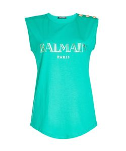 Balmain | Cotton Tank With Embossed Buttons Gr. Fr 42
