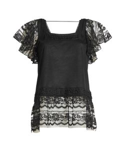 Anna Sui | Top With Lace And Embroidery Gr. S