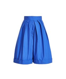 Delpozo | High-Waisted Pleated Cotton Shorts Gr. Fr 40