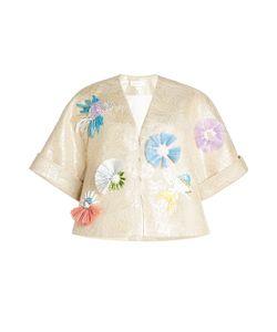 Delpozo | Embellished Jacket With Linen Gr. Fr 38
