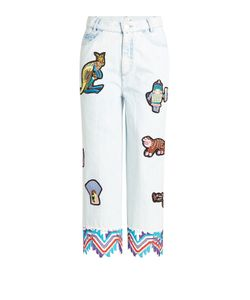 Peter Pilotto | Embroidered Jeans With Patches Gr. 27