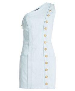 Balmain   Asymmetric Denim Dress Gr. Fr 36