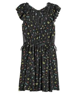 The Kooples | Printed Silk Dress With Lace Gr. Xs
