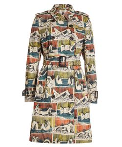 Burberry London | Printed Cotton Trench Coat Gr. Uk 12