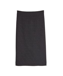 Boutique Moschino | Virgin Wool Skirt With Pinstripes Gr. It 40