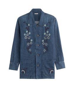 Alexa Chung for AG | Poppy Embroidered Denim Shirt Gr. S