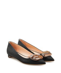 Rupert Sanderson | Kitten Heels With Wooden Pebble Accent Gr. It 41