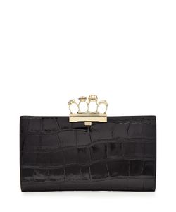 Alexander McQueen | Embossed Leather Brass Knuckle Clutch Gr. One Size