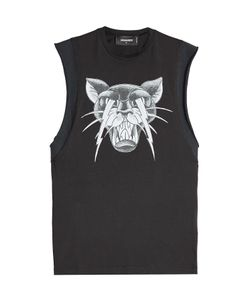 DSquared² | Printed Cotton Sleeveless Top Gr. S