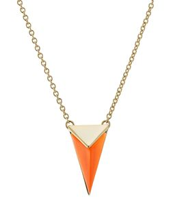 Alexis Bittar   -Plated Necklace With Lucite Gr. One Size