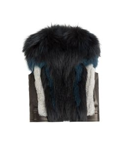 Roberto Cavalli | Leather Vest With Fox Fur Gr. 40