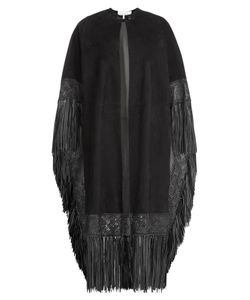 Valentino | Suede Cape With Leather Fringe Gr. 38