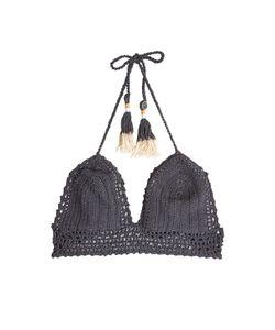 She Made Me   Crochet Bikini Top With Tassels Gr. M/L