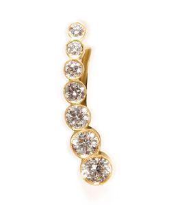 Sophie Bille Brahe | Gold/White Diamond Petite Croissant De Lune Earring Gr. One Size