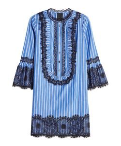 Anna Sui | Striped Dress With Lace Detail Gr. Us 4