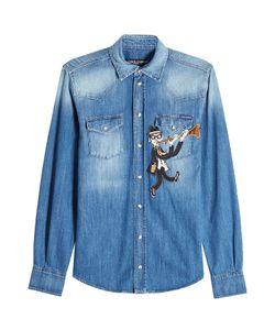 Dolce & Gabbana | Denim Shirt With Patch Gr. Eu 39