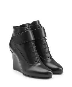 Jil Sander | Leather Ankle Boots Gr. 35