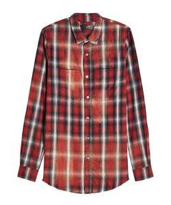 Amiri | Oversized Cotton-Blend Plaid Shirt Gr. Xl