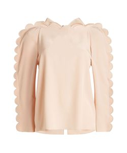 Fendi | Scalloped Silk Blouse Gr. It 44