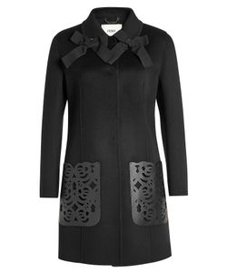 Fendi | Wool Coat With Leather Pockets Gr. It 44