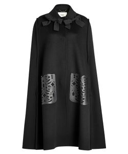 Fendi | Wool Cape With Leather Pockets Gr. It 42