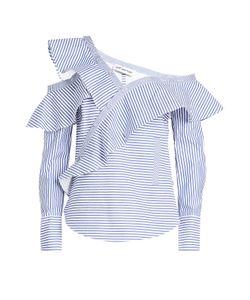 Self-Portrait | Striped Cotton Shirt Gr. Uk 6