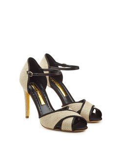 Rupert Sanderson | Stiletto Sandals With Raffia Gr. It 40