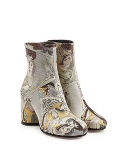 Maison Margiela | Embroide Leather Ankle Boots Gr. It 38