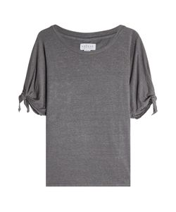 Velvet | Linen Top With Knotted Sleeves Gr. L