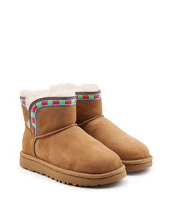 UGG Australia | Rosamaria Embroidered Mini Suede Boots Gr. Us 9