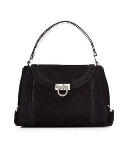 Salvatore Ferragamo | Suede Tote With Snakeskin Gr. One Size
